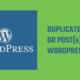 Duplicate page or post in WordPress