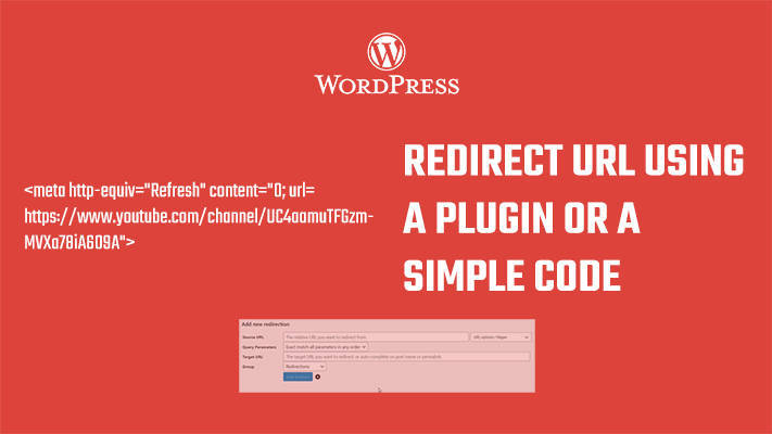 Redirect page in WordPress