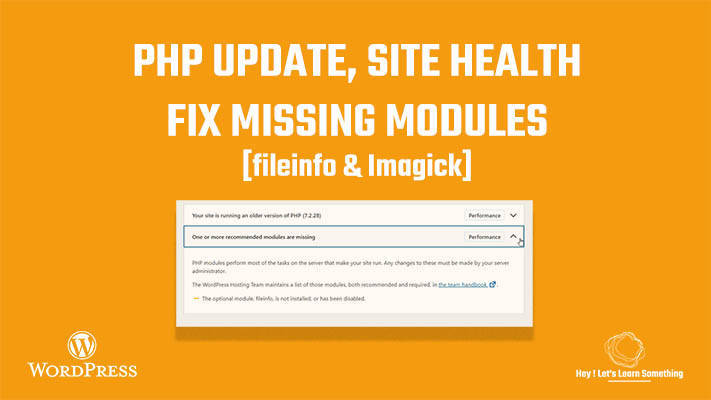 How to improve WordPress site health