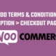 terms and conditions woocommerce