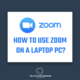 How to use zoom on a laptop PC Join or Schedule a Meeting - Mute or disable Video - 2020
