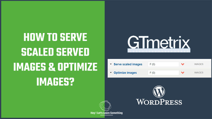 How to serve scaled images and optimize images - GTmetrix, without using any plugins