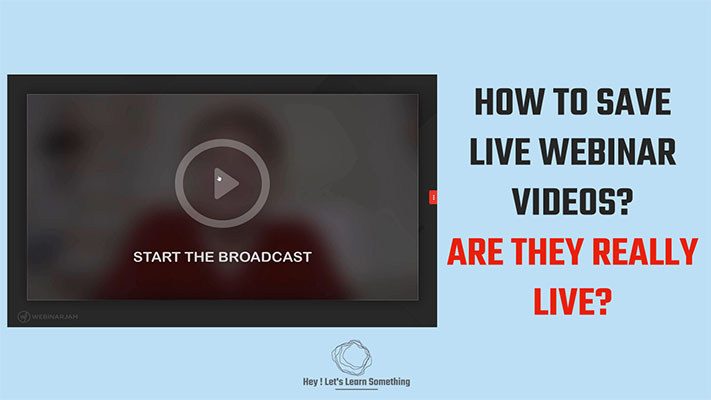 How to download an hour plus Online Live Webinar (free) from various platforms