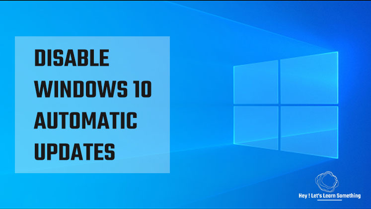 Disable windows update in windows 10 (Home or pro) - 2020
