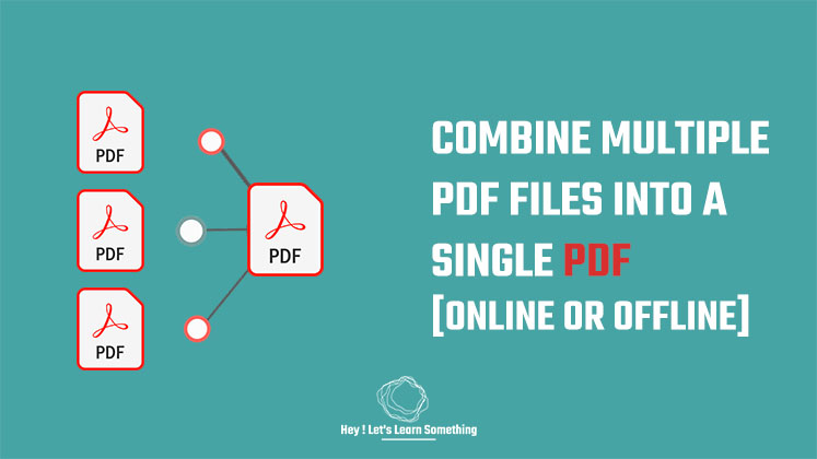 How to combine pdf files into one (online or offline) without adobe acrobat pro - 2021