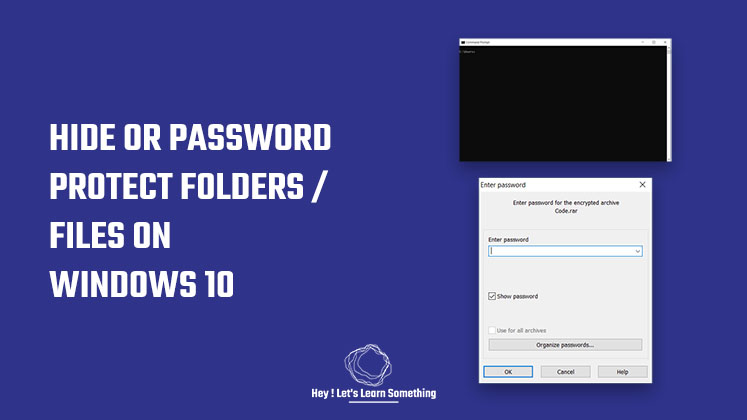 Password protect or hide a folder in windows