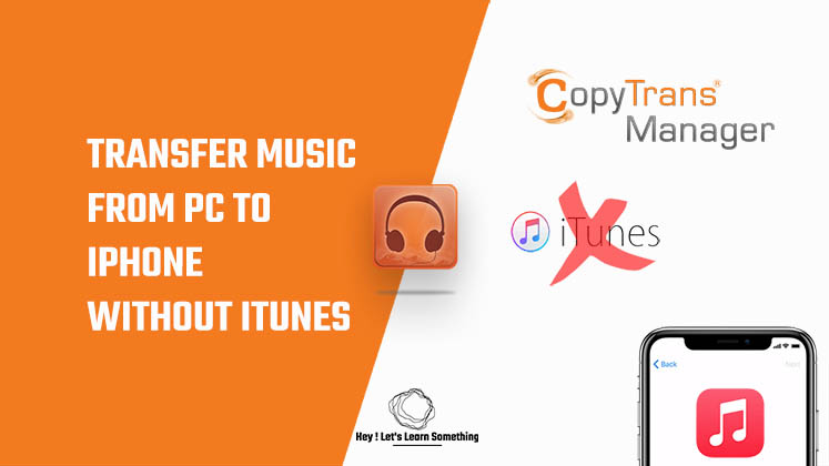 How to transfer music from pc to iPhone without iTunes - Copytrans