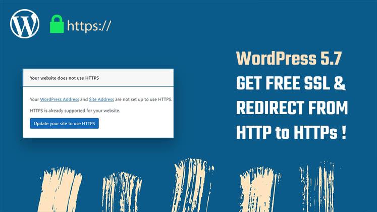 free ssl wordpress 5.7