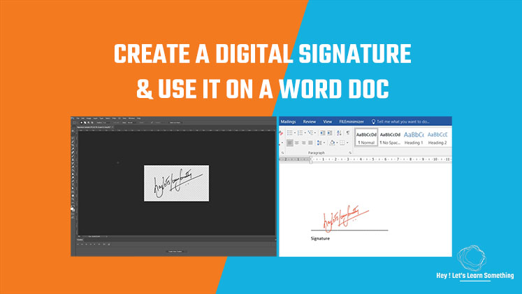 Create a Digital Signature and use it on a Word Document