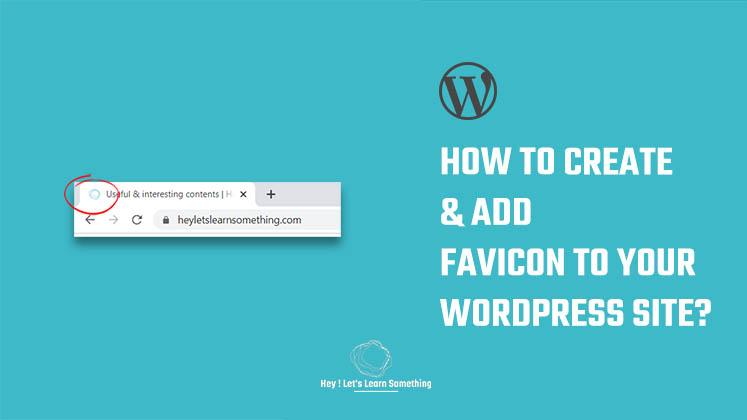 create and add favicon WordPress