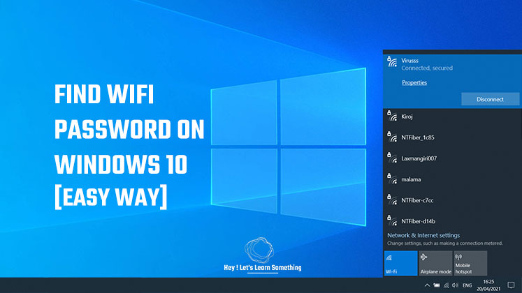 find wifi password on computer windows 10