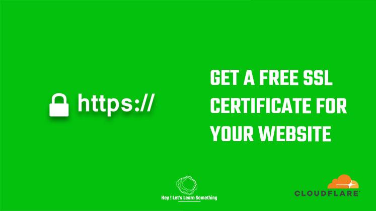 free SSL certificate cloudflare