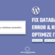Error establishing a database connection | Repair & Optimize Database