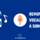 How to remove vocals from an song