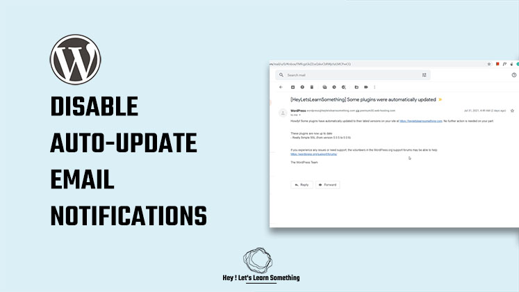 How to disable automatic update email notifications in WordPress without using plugins