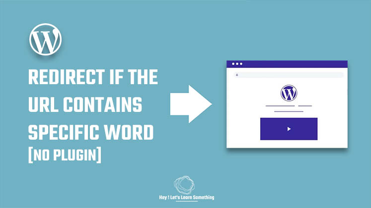Redirect if the URL contains specific keyword