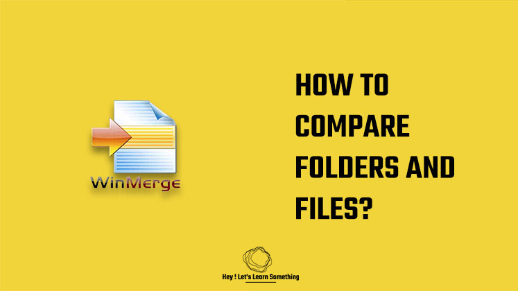 how to compare folders or files using WinMerge