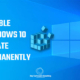 How to disable or stop windows 10 update permanently using registry