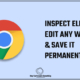 How to edit any website's text using inspect element and save it permanently to your PC's browser